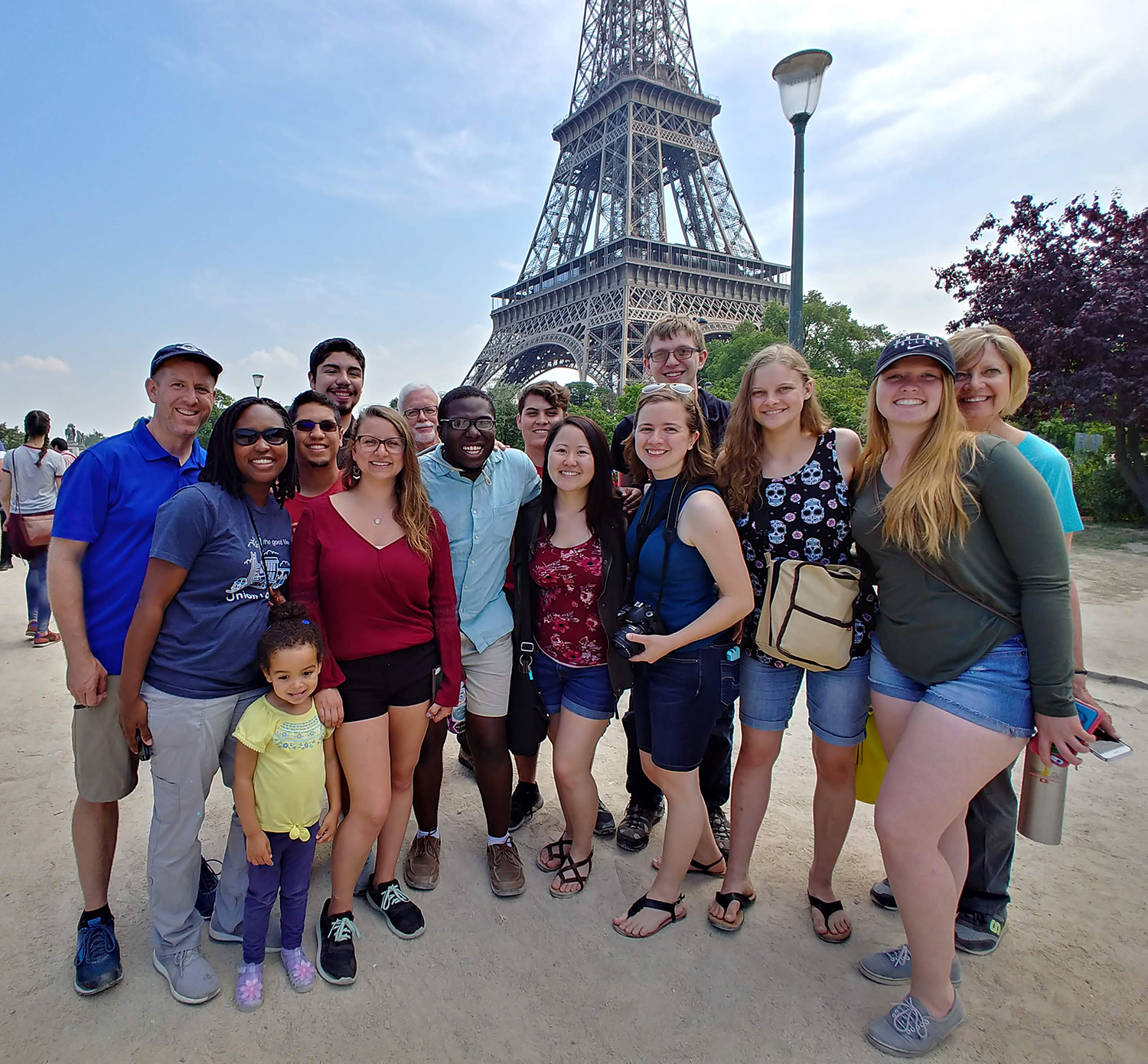 Union honors group picture in front of Eiffel Tower