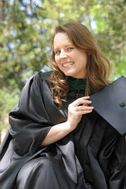 Image of a smiling graduate of Union's science and math program.