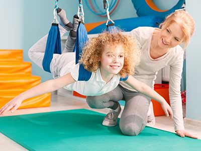 Photo of a child in occupational therapy.