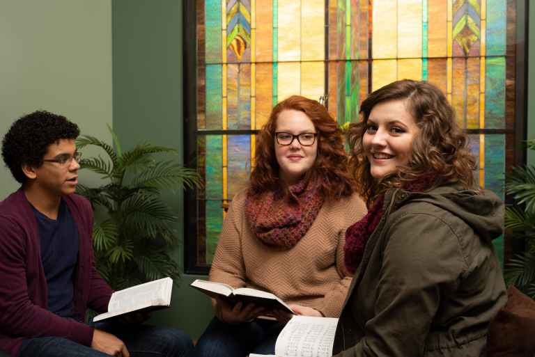 Campus Ministries and the College View church work together to provide students with oppotunities for leadership, small groups and many other ministries.