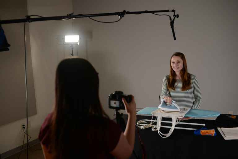 AdventSource's on-site studio can be used for class projects.