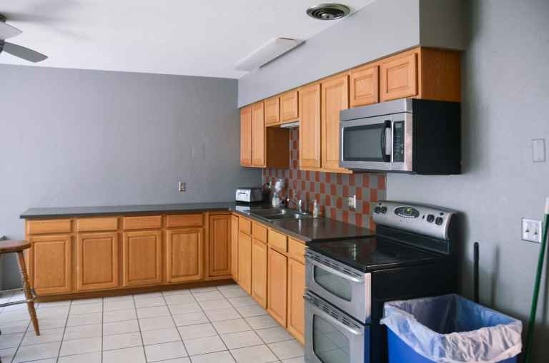 Rees Hall is equipped with two kitchens for students.