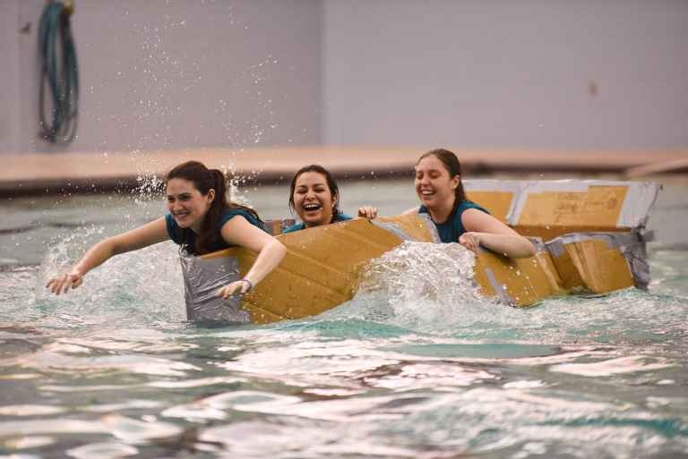 The annual cardboard boat race during Splash for Cash is one of the many ways you could use the pool.