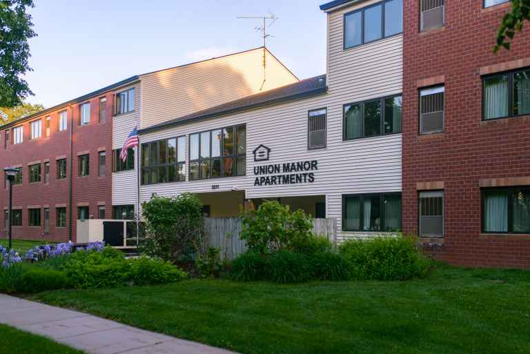 Union Manor is owned by the college and provides housing for elderly residents.