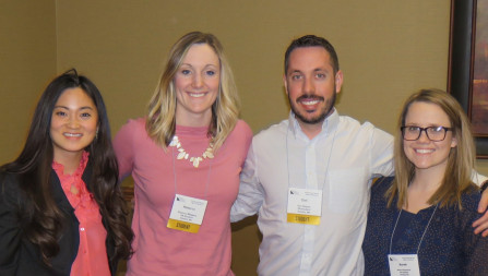 Rebecca Meggers (second from left) was one of several Union Physician Assistant students who attended an annual PA conference in April.