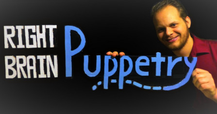 Ethan Fishell, owner of RIght Brain Puppetry