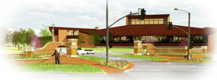 The sketch for the new Union entrance